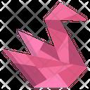 Origami Swan Icon