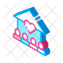 Care Hand House Icon