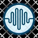Oscilloscope Equalizer Visualization Icon