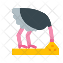 Ostrich head in sad Icon