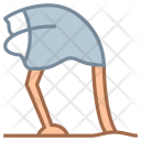 Ostrich head in sand Icon