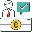 Otc Trading Bitcoin Checkmark Icon