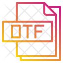 Otf File Format Type Icon