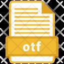 Otf File Format Icon