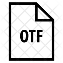Otf File Document Icon