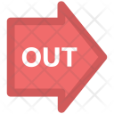 Out Arrow Exit Icon