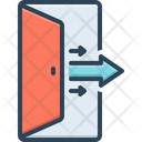 Out Exit Door Icon