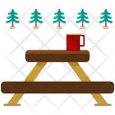 Outdoor Bench Lunch Icon