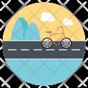 Outdoor Biking Icon