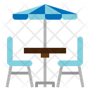 Outdoor Cafe Seat Table Icon