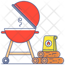 Outdoor Cooking Bbq Griller Charcoal Grill Icon