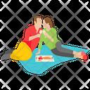 Outdoor Couple Outdoor Picnic Couple Icon