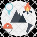 Hiking Traveling Mountain Icon