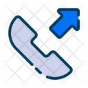 Outgoing Call Phone Communication Icon