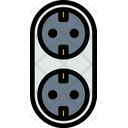 Outlet Socket Connection Icon
