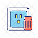 Outlet Repair House Icon
