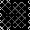 Output Arrow Points Icon