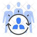 Outsourcing Staff Contractor Icon