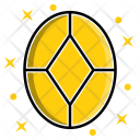 Oval Diamond Stone Icon
