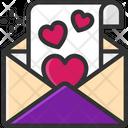 M Love Letter Ove Letter Valentine Letter Icon