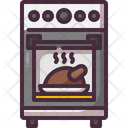 Oven Thanksgiving Roast Chicken Icon