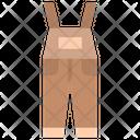 Bib Overalls Pants Icon