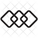 Overlapping Squares Graphic Icon