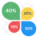Circles Chart Overlapping Chart Multi Color Infographic Icon