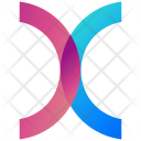 Overlapping Circles Logogram Icon