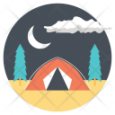 Overnight in Forest Icon