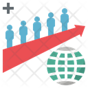 Overpopulation Growth Crowd Icon