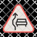 Overtake Sign Icon
