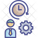 Work Load Busy Employee Icon
