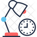 Overtime Clock Lamp Icon