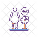 Overweight Amputee Fit Icon