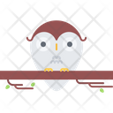 Owl Tree Branch Icon