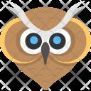 Owl Face Animal Icon