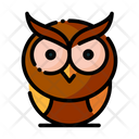 Owl Night Watcher Bird Icon