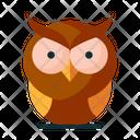 Owl Night Watcher Bird Icon