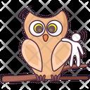 Owl Night Bird Night Ave Icon