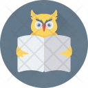 Owl Study Learning Icon