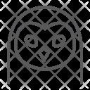 Owl Bird Face Icon