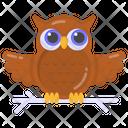 Owl Wisdom Animal Icon