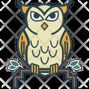 Owl Wisdom Owl Sage Icon