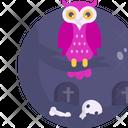 Halloween Owl Skull Icon