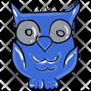 Owl Cartoon Bird Prey Bird Icon