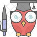 Education Owl Algebra Icon