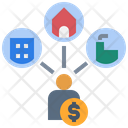 Ownership Property Rich Icon