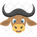 Ox Face Brown Icon