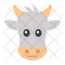 Ox Face Ox Head Animal Icon